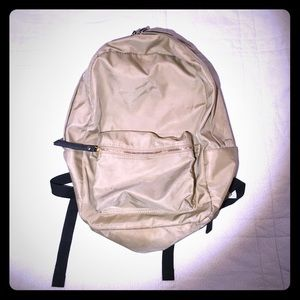 Other - Tan Backpack / Gold Zips
